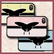 Butterfly Damask iPhone Covers