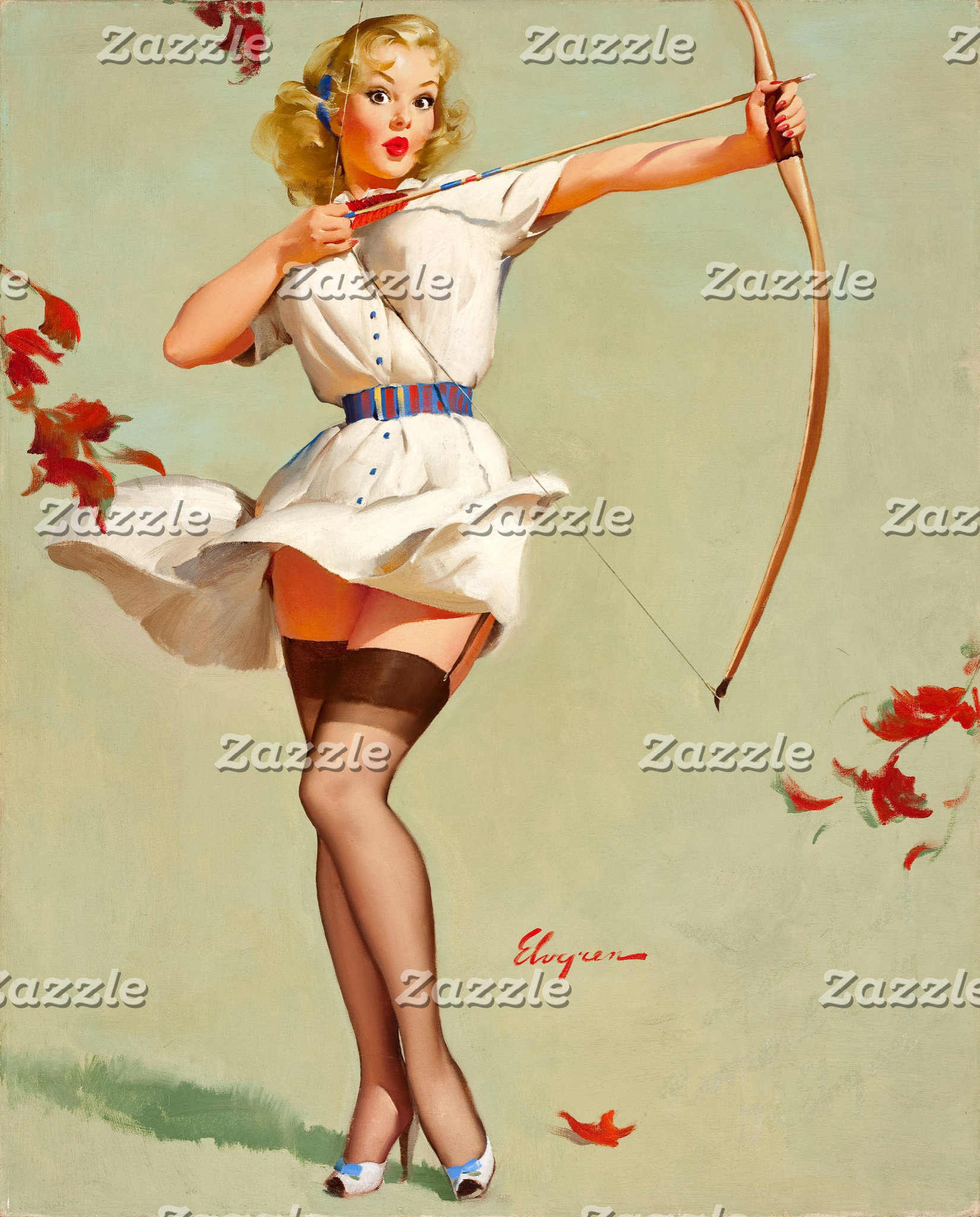 Archery Pin-Up Girl