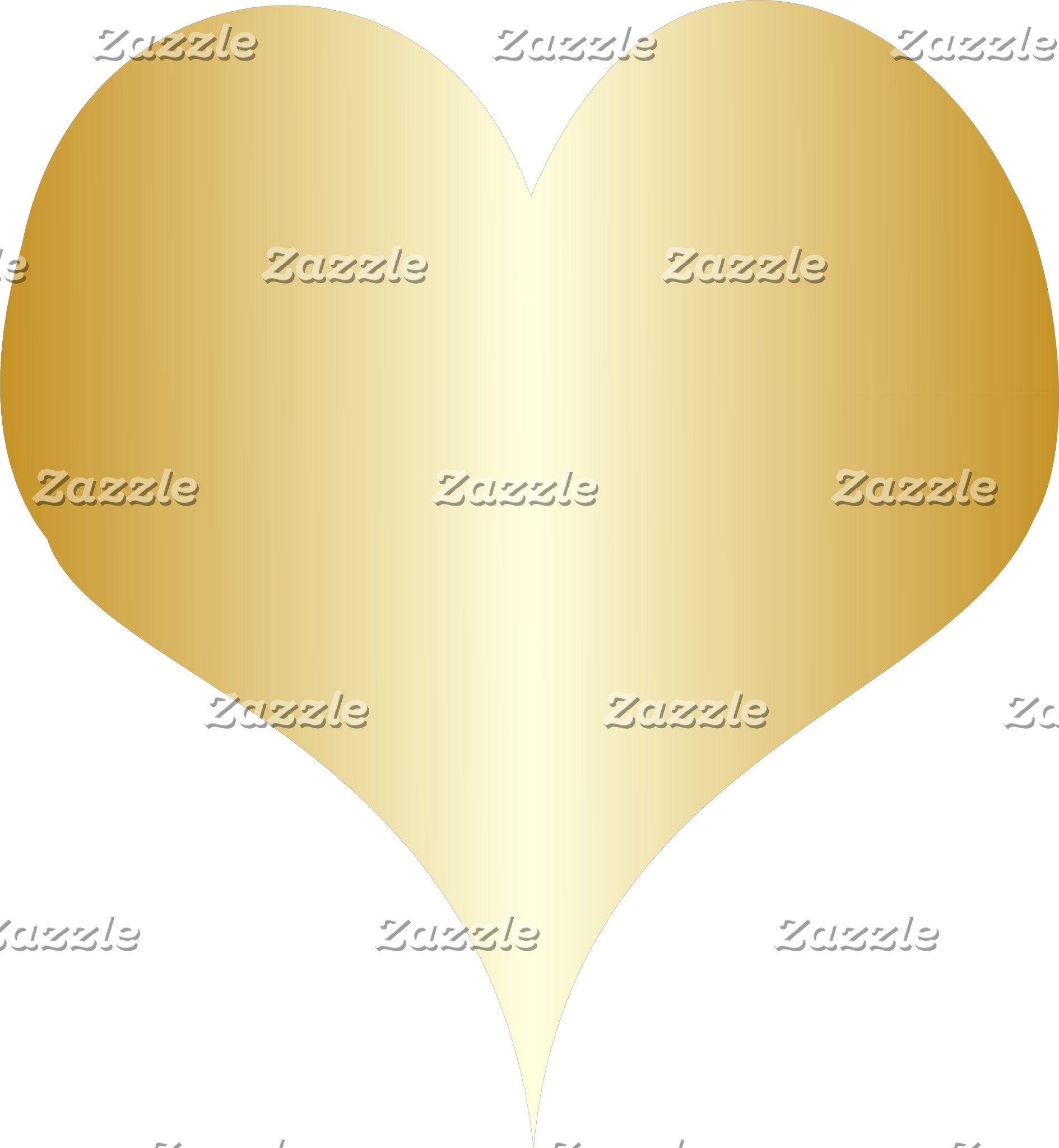 Gold Heart Stripe