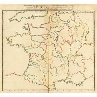 France Rivers Outline
