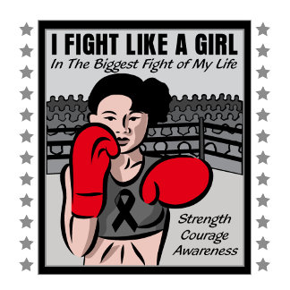 Melanoma Cancer I Fight Like A Girl Battle