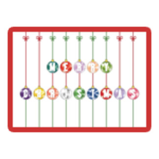 Colorful Merry Christmas Glass Ball Ornaments