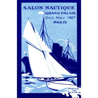 1927 Paris Boat Show Poster