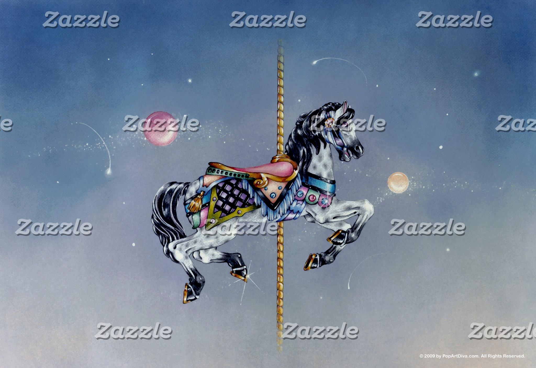 Grey Mare Carousel Horse