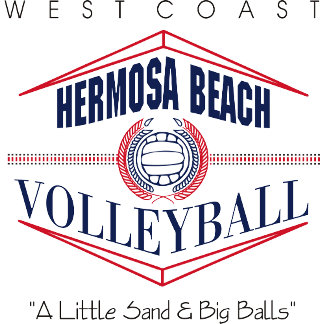 Hermosa Beach Volleyball T-Shirts Gifts Cards