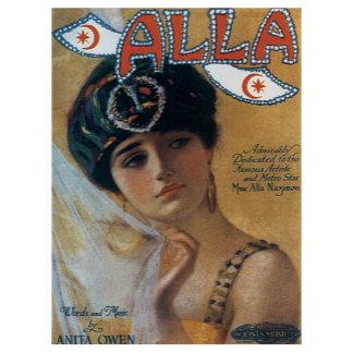 Alla - Vintage Song Sheet Music Art