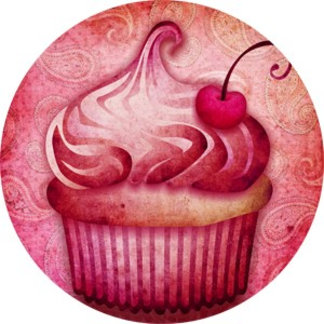 Pink Paisley Cupcake