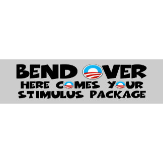 Hilarious stimulus package anti Obama stickers