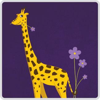 02 - Cute And Funny Giraffe Roller Skating
