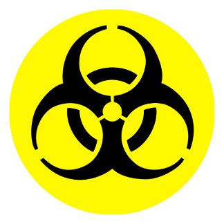 BioHazard Symbol - Yellow