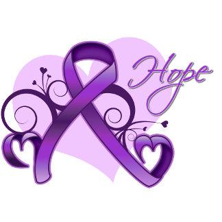 Floral Ribbon Hope - Pancreatic Cancer