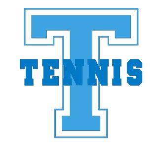 Sporty Blue Tennis Emblem