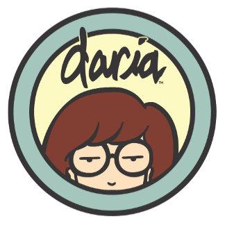 Daria Circle Logo Yellow/Aqua