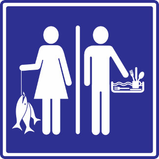 Real Women Fish, Real Men Do Dishes