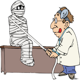 Doctor 17 Mummy Patient Medical Office Exam