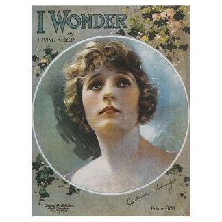 I Wonder ~ Vintage Song Sheet Music Art
