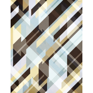Geometric Earth Tones Abstract