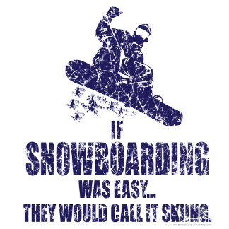If Snowboarding was easy they would call it skiing