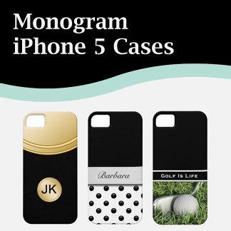 Monogram iPhone 5 Cases