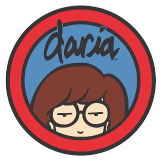 Daria Circle Logo Blue/Red