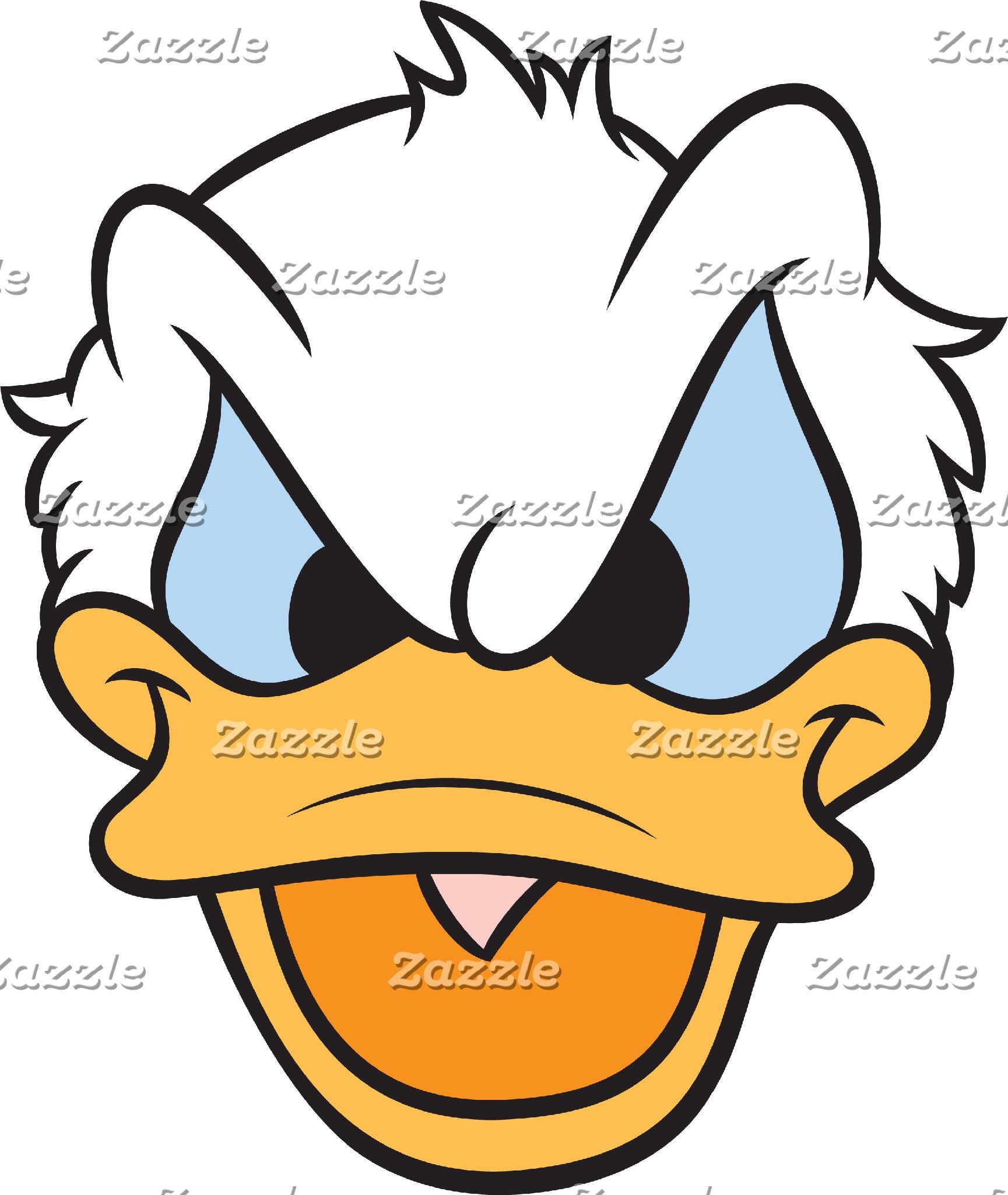 Donald Duck | Angry Face Closeup