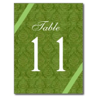 GREEN Table Numbers