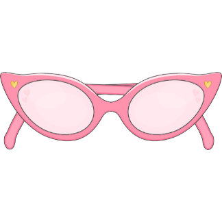 Pink Cats Eye Glasses