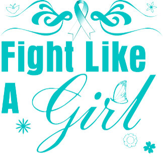 Cervical Cancer Fight Like A Girl Ornate