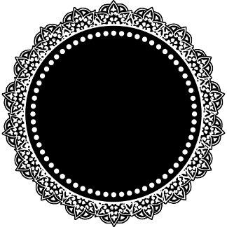 Black And White Medallion Monogram