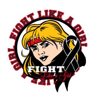 Melanoma Fight Like A Girl Attitude