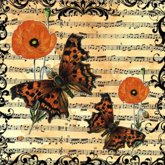 European Butterflies with Poppies