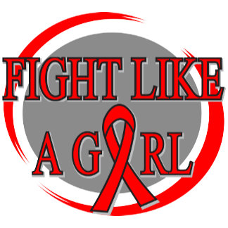 Blood Cancer Fight Like A Girl Circular