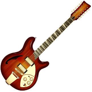 Sunburst 12 String Semi-hollow Guitar