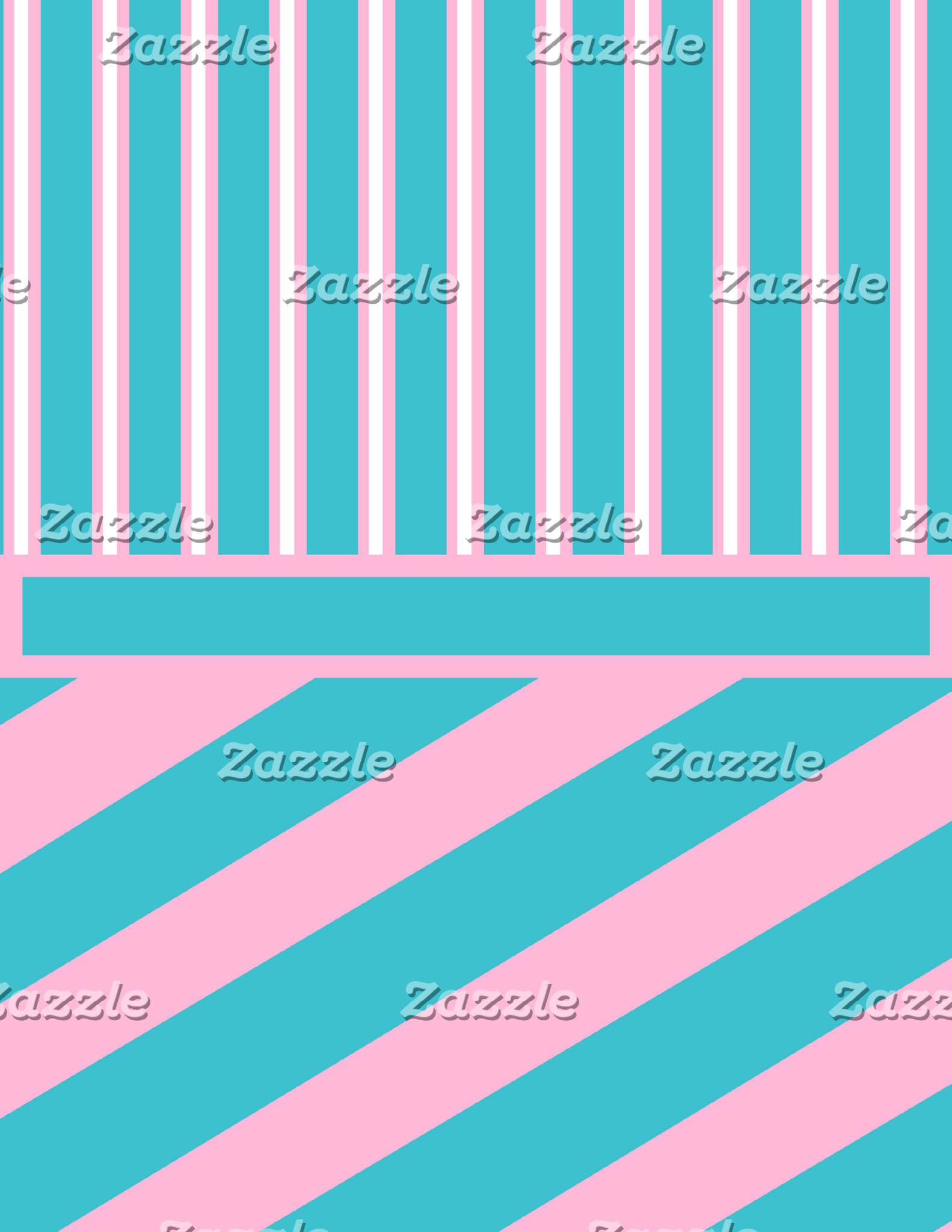 Blue Pink and White Vertical and Diagonal Stripes