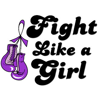 Epilepsy Fight Like A Girl Motto