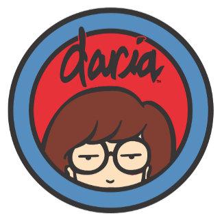 Daria Circle Logo Red/Blue
