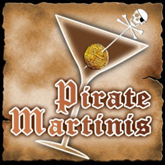 Pirate Martini Recipe Cards