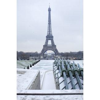 Eiffel tower in winter