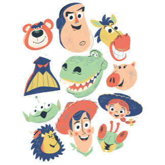 Vintage Painted Toy Story Characters
