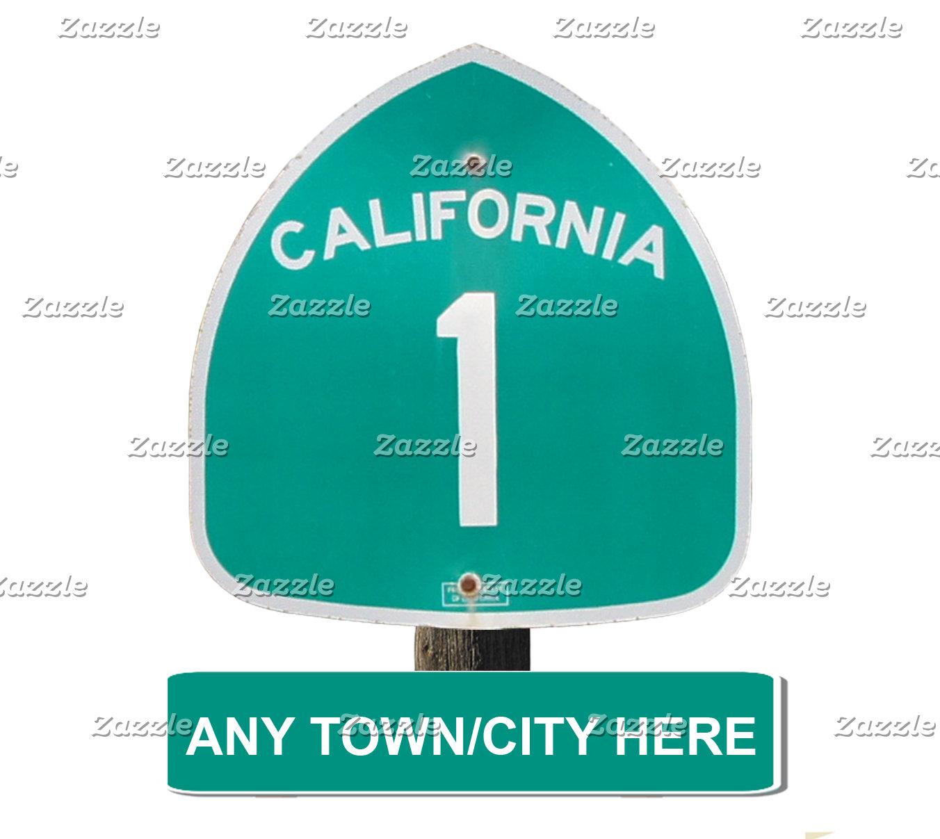 Customizable CA Highway 1 items