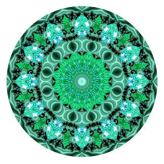 Emerald Crystals Mandala