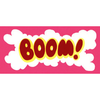 """'BOOM!' Poster Print"""