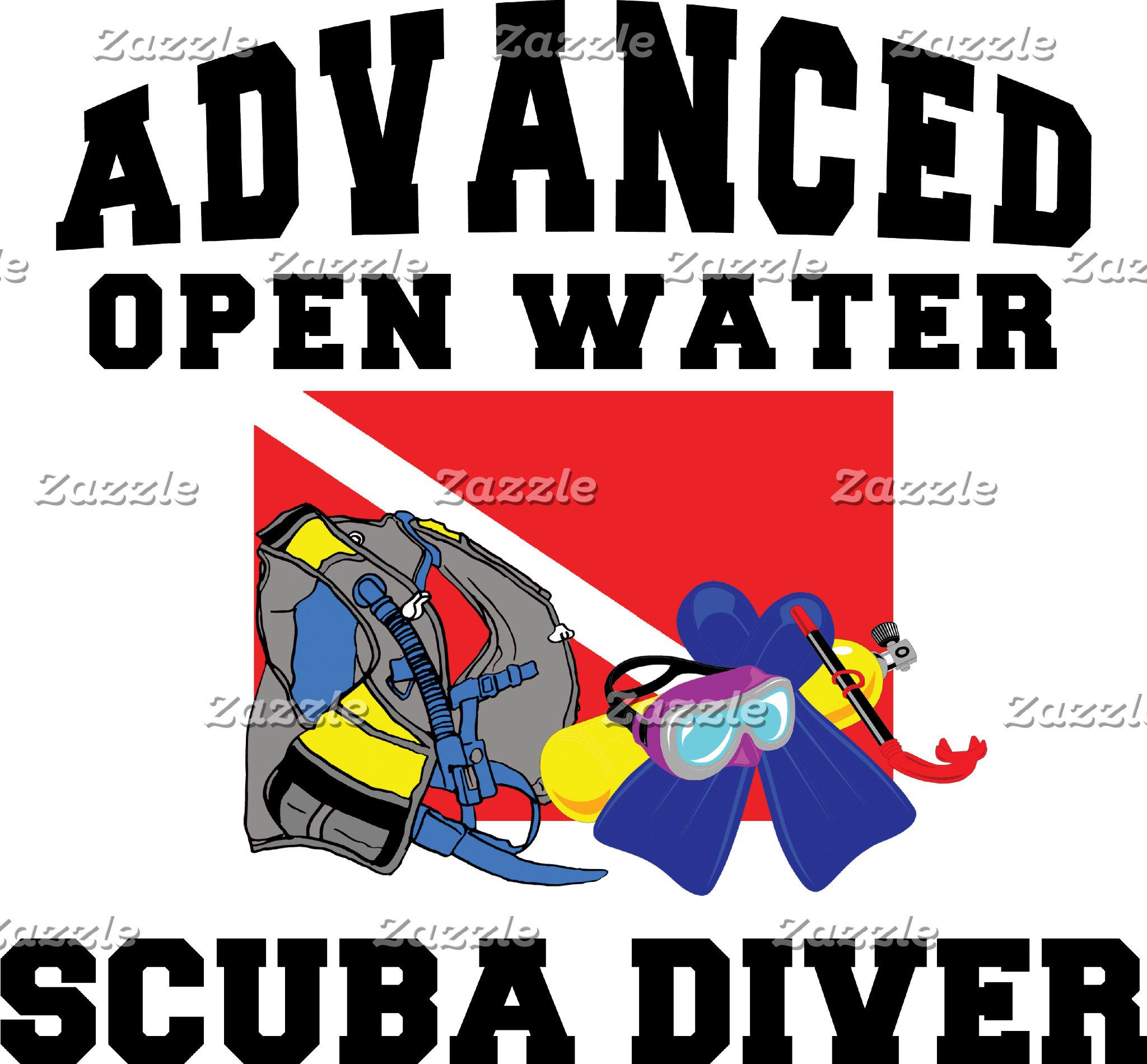 Advanced Open Water SCUBA Diver T-Shirt Gifts