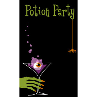 Halloween Potion Party Martini Glass