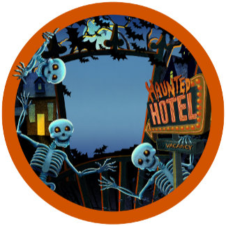 Halloween Haunted Hotel Skeletons