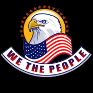 We The People Eagle Gradient Banner