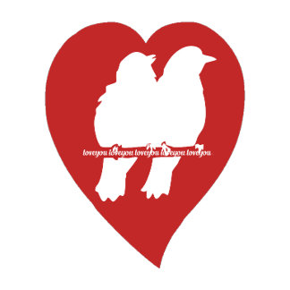 Red Lovebird Heart