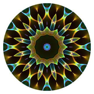 Blue Ice Gold Mandala