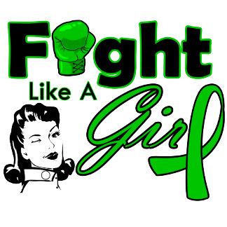 Cerebral Palsy Fight Like A Girl - Retro Girl