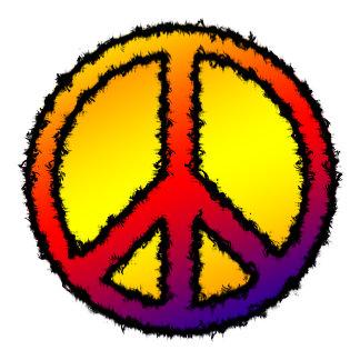 Peace Sign Red Yellow Purple Orange Zig Zag -